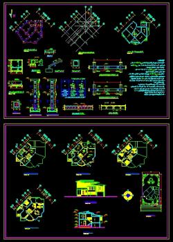 دانلود نقشه اتوکد ویلایی عالی دوبلکس طراحی معماری همراه با نقشه سازه بتنی